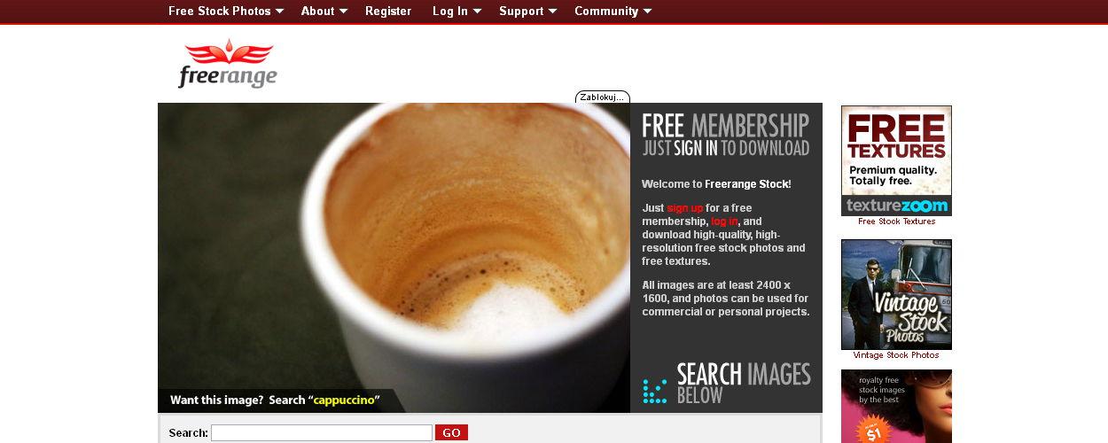 Freerange zbiór darmowych zdjęć na blogaq