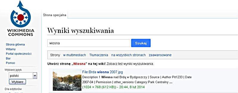 Wikimedia Commons bogaty zbiór zdjęć